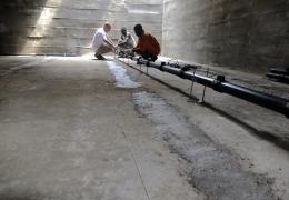 Fasi di costruzione dell'impianto biologico a fanghi attivi